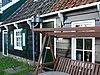 foto van Houten huis, met daklijst op consoles
