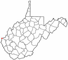 Location of Ceredo, West Virginia