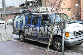 Action News - WXYZ-TV Action News remote van.