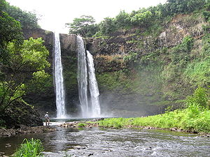 Wailua Falls was used as a final detour locati...