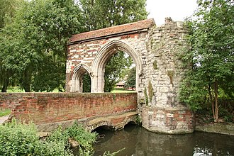 Waltham Abbey Church - The surviving bridge and gatehouse of the abbey