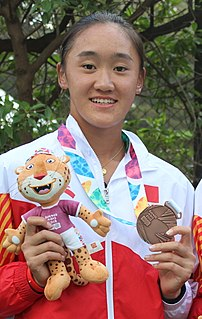 Wang Xiyu Chinese tennis player (2001-)