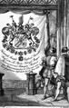 Wappen des Grafen Heinrich Basselet Graf von la Rosée als Träger des Großkreuzes des Michaelsordens 1835.png