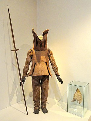 History of Nauru - Nauruan warrior suit, 1891. (Exhibit in the Oceanic collection of the Staatlichen Museums für Völkerkunde München)