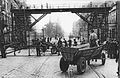 Warsaw Ghetto Footbridge viewed from Żelazna Street 1942.jpg