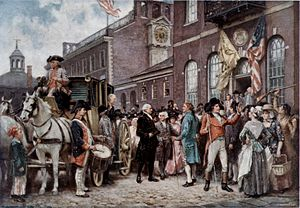 Second inauguration of George Washington - Washington's inauguration at Philadelphia by Jean Leon Gerome Ferris