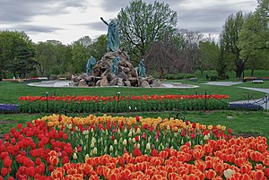 King Fountain at Washington Park in Albany, Ne...