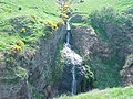 Waterfall to South of the path leading to Dunnottar Castle - geograph.org.uk - 67441.jpg