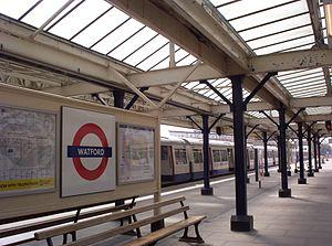 Watford tube station - A platform at Watford tube station