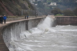 Waves breaking on the sea wall at Teignmouth (0127).jpg