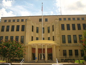 George Caldwell (Louisiana) - The Webster Parish Courthouse (1953) in Minden, Louisiana, is among the public projects constructed by contractor George A. Caldwell.