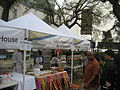 Wednesday at Square NOLA Mch 2010 Lucys tent 1.JPG