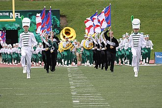 Eastern Michigan University Marching Band - Pregame Entrance