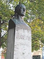 Weimar, Graben/Teichgasse: Denkmal für Johannes Daniel Falk (Quelle: Wikimedia)
