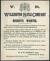 Wellington Rifle Company -Recruits wanted. Wellington, 24th October, 1890. (21447787490).jpg