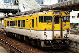Gantoku Line railway line in Yamaguchi prefecture, Japan