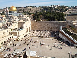 Holy site of Judaism in Jerusalem