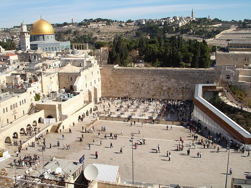The sacred Western Wall.