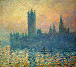 Constitution of the United Kingdom - Claude Monet's depiction of the Houses of Parliament from Westminster Bridge in 1903.