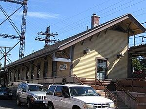 Westport station (Connecticut) - Image: Westport CT Train Station 09302007