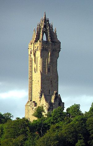 Scotland - The Wallace Monument commemorates William Wallace, the 13th-century Scottish hero.