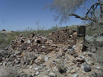 Henry Wickenburg - The ruins of Henry Wickenburg's Settlers Home in Vulture City