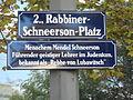 Wien02 Rabbiner Schneerson-Platz 2011-09-26 P9260025 Strassentafel GuentherZ.JPG