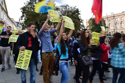 Kurdish demonstration against ISIL in Vienna, Austria, 10 October 2014 Wien - Kobane-Demo 2014-10-10 - V.jpg