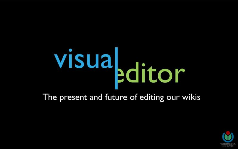 File:Wikimania 2013 - VisualEditor - The present and future of editing our wikis - Full build.pdf