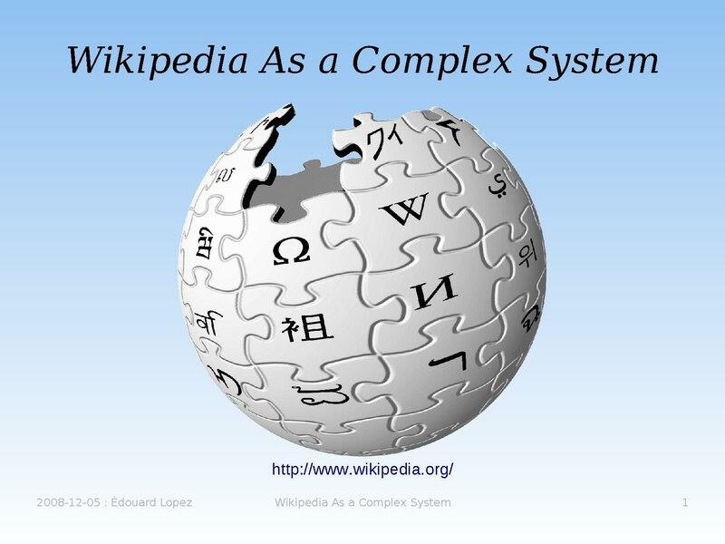 File:Wikipedia as a complex system.pdf