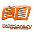 Wiktionary logo orange YoungStyle! 4.png