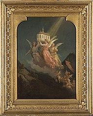 Entwurf für die Wandmalereien in der Bibliothek der Burg Hohenzollern \
