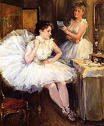 Willard Leroy Metcalf The Ballet Dancers aka The Dressing Room.jpg
