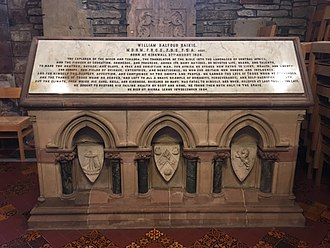 William Balfour Baikie - William Balfour Baikie memorial in Kirkwall Cathedral, Orkney