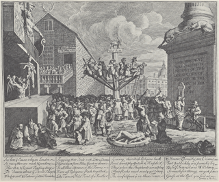 <i>Emblematical Print on the South Sea Scheme</i> print by William Hogarth