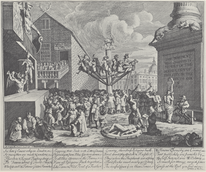 Hogarth's Emblematical Print of the South Sea Bubble