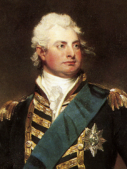 William in dress uniform painted by Sir Martin Archer Shee, c.1800 (detail)