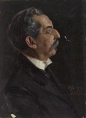 Ohne Titel (Portraitstudie Otto Hirschfeld). Entwurf zu dem verschollenen Gemälde \