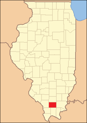 Williamson County, Illinois - Image: Williamson County Illinois 1839