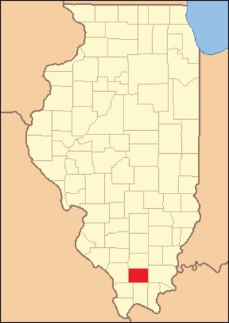 Williamson County, Illinois - Image: Williamson County Illinois 1839