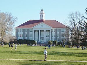 James Madison University - Wilson Hall, centerpiece of the JMU quadrangle