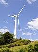 Windturbine propeller on the top of Mount Zaou, Tahara 2012.JPG