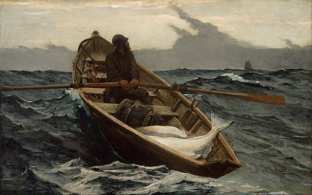 Winslow Homer - The Fog Warning (1885, oil on canvas, wikicommons)