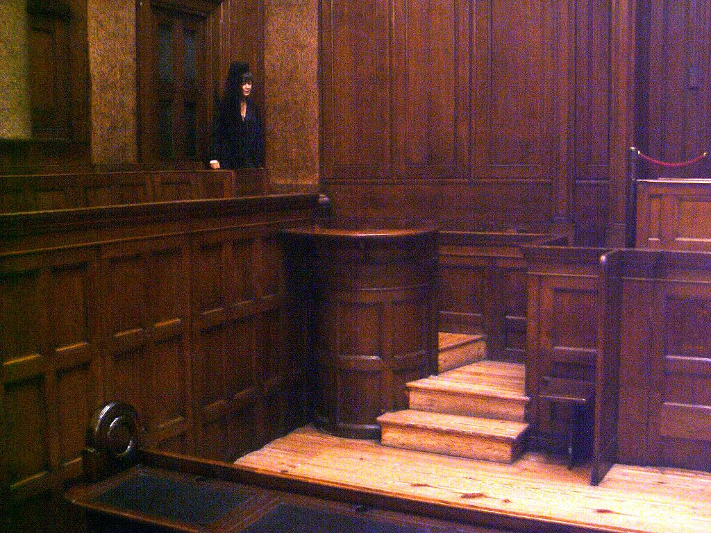 File Witness Box  No  1 Court  St Georges Hall  Liverpool