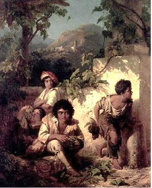 Edmund Wodick - Stealing from the Grape Harvest
