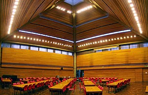 Wolfson College, Oxford - Dining hall.