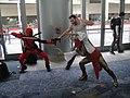 WonderCon 2012 - Deadpool vs Wolverine vs Lady Deathstrike (7019461797).jpg