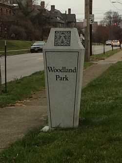 Neighborhood Marker for Woodland Park