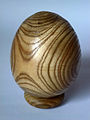 Woodturned staghorn sumac egg.jpg