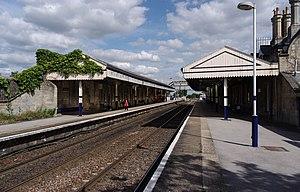 Worksop railway station - Worksop railway station in 2012